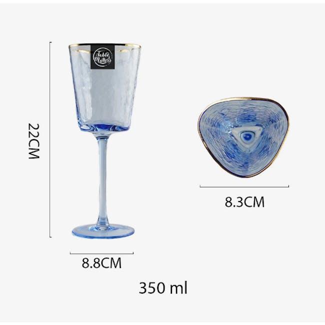 Table Matters Tsuchi Wine Glass 350ml - Blue - 3