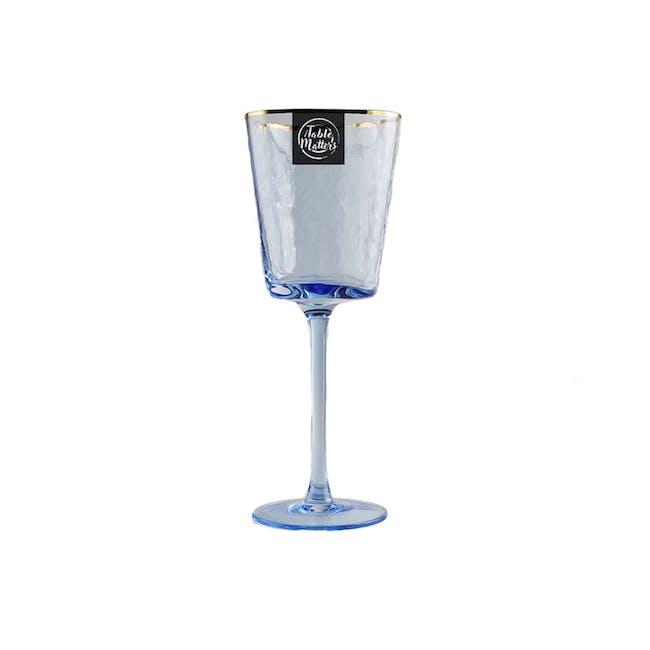 Table Matters Tsuchi Wine Glass 350ml - Blue - 0