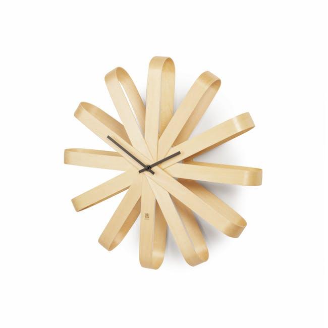 Ribbon Wall Clock - Natural - 1