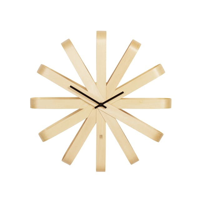 Ribbon Wall Clock - Natural - 0