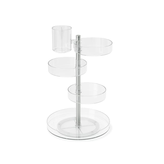 Pirouette Rotating Organiser - Clear - 3