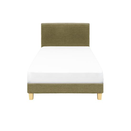 Chen Dynasty - ESSENTIALS Single Headboard Divan Bed - Khaki (Fabric)