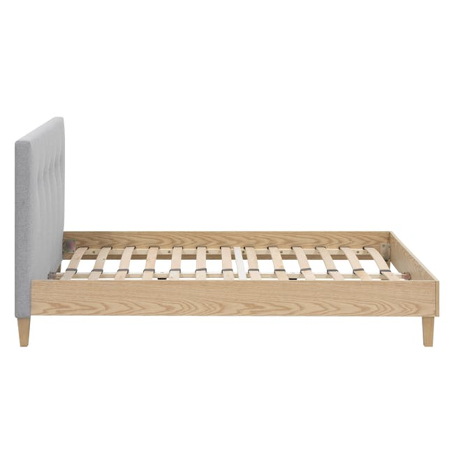 Landon Queen Bed with 2 Kyoto Bottom Drawer Bedside Table in Oak - 5