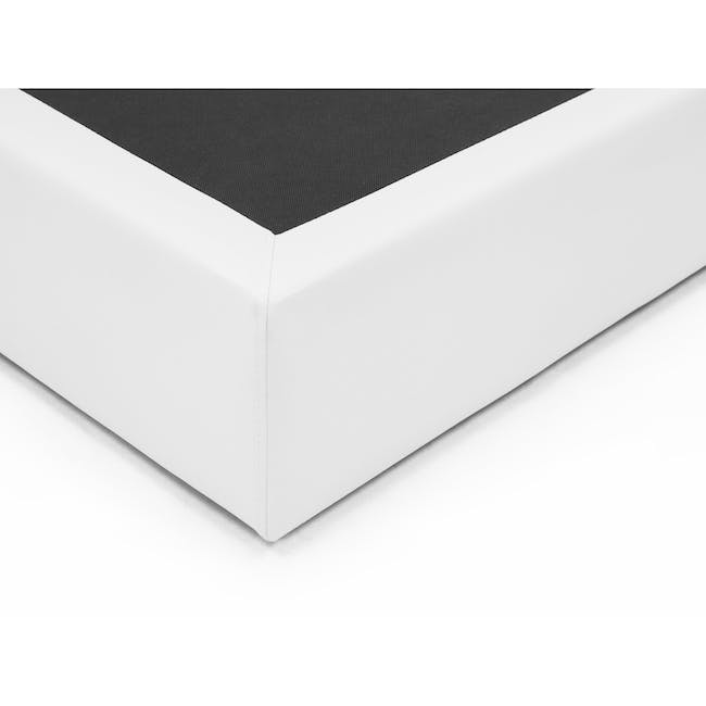 ESSENTIALS King Box Bed - White (Faux Leather) - 2