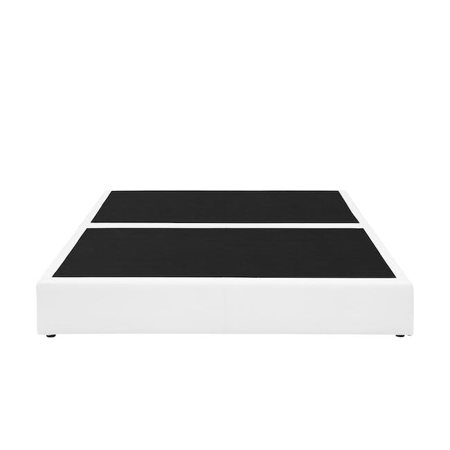 ESSENTIALS King Box Bed - White (Faux Leather) - 0