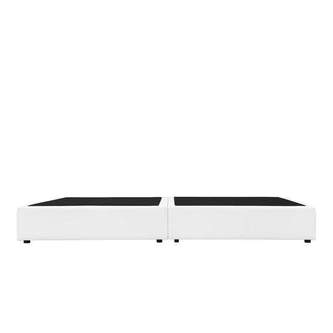 ESSENTIALS King Box Bed - White (Faux Leather) - 3