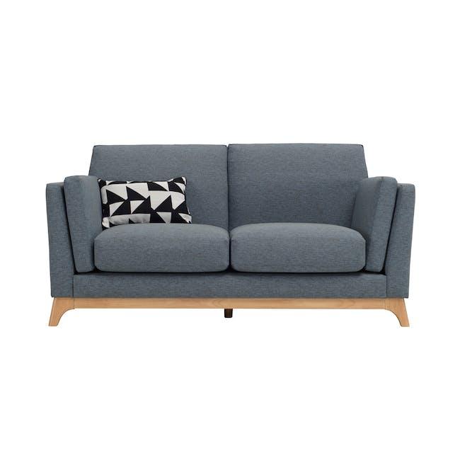Elijah 2 Seater Sofa with Elijah Armchair - Whale - 2