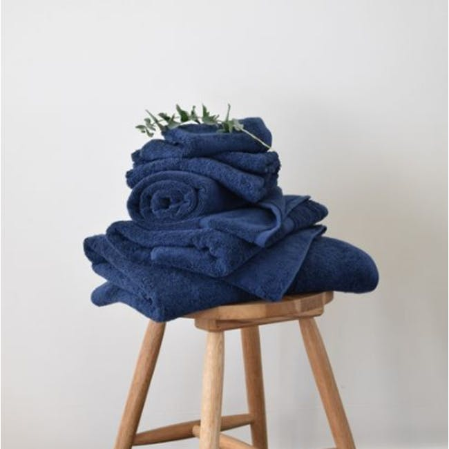Canningvale Royal Splendour 6pc Towel Set - Mezzanote Blue - 1