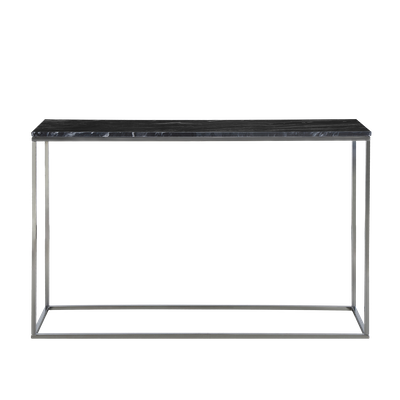 Amelia Marble Console Table - Dark Grey, Chrome - Image 1
