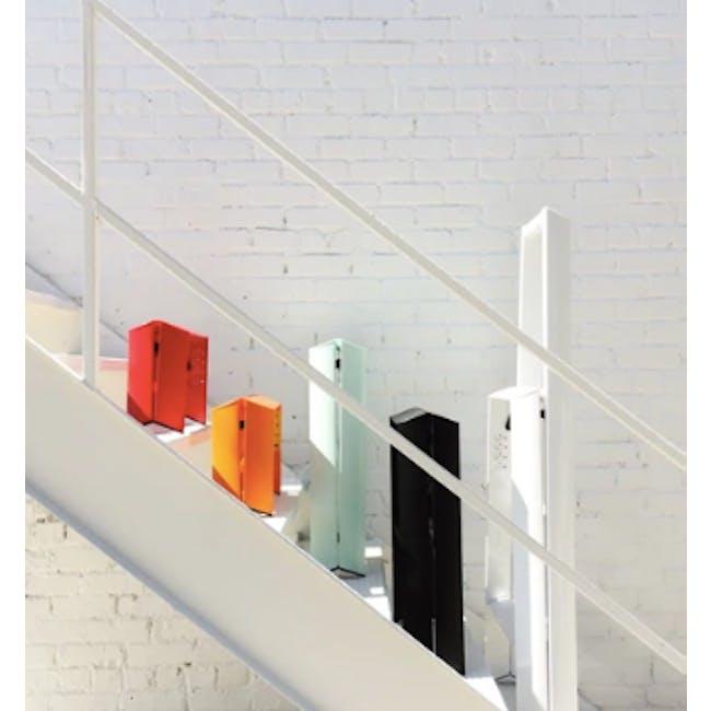 Hasegawa Lucano Aluminium 2 Step Stool - Orange - 2