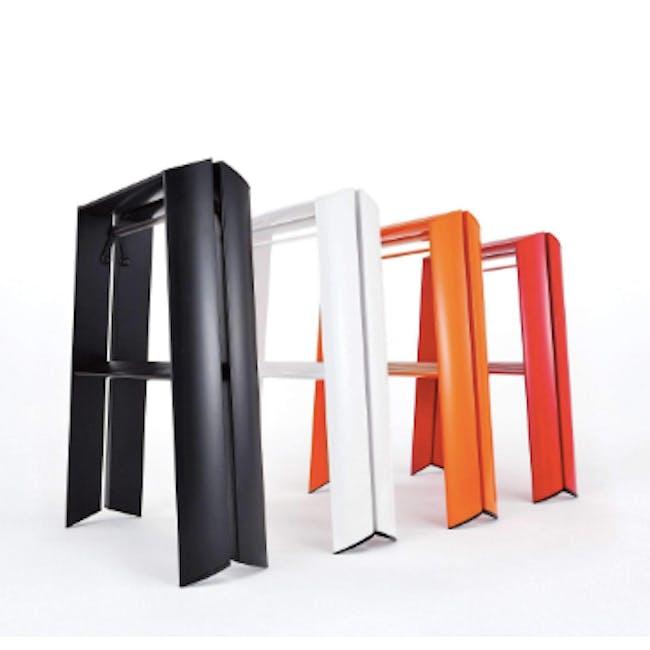 Hasegawa Lucano Aluminium 2 Step Stool - Orange - 4