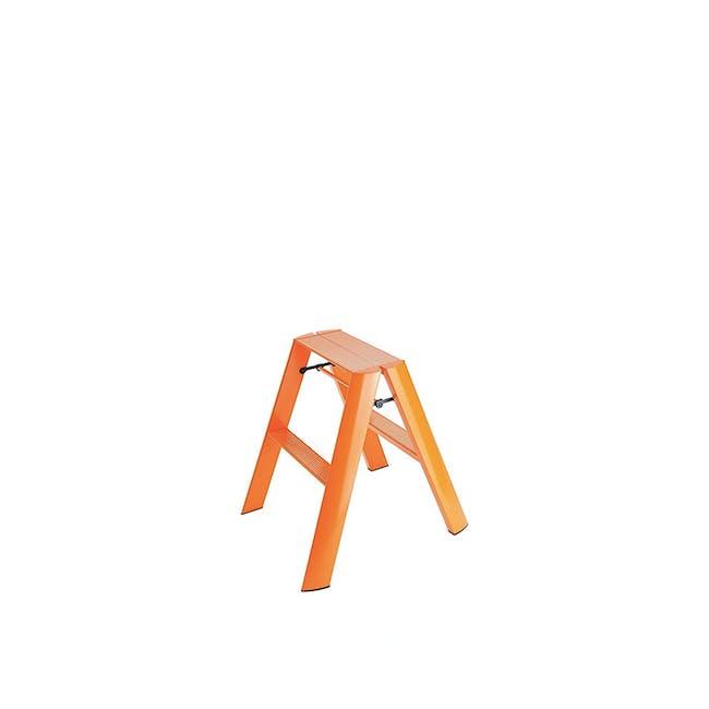 Hasegawa Lucano Aluminium 2 Step Stool - Orange - 0