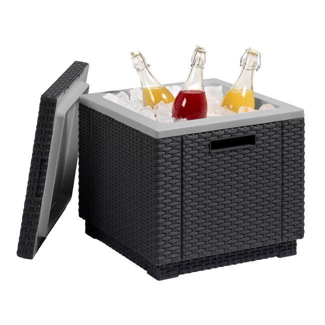 Ice Cube Table - Graphite - 1