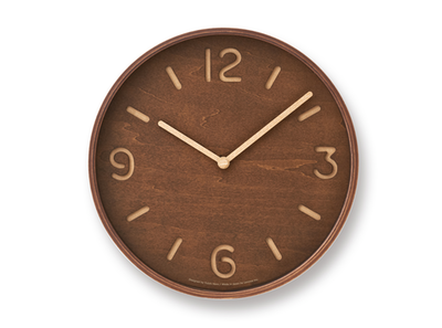 Thomson Wall Clock - Brown - Image 1