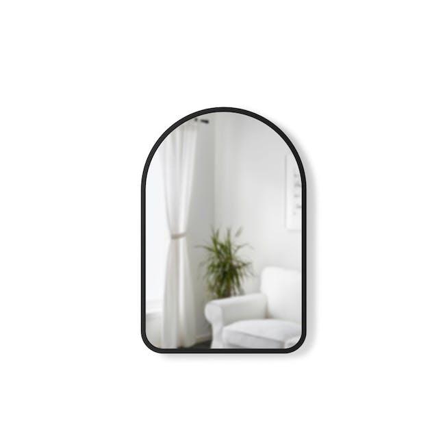 Hub Arched Wall Mirror 61 x 91 cm - Black - 0