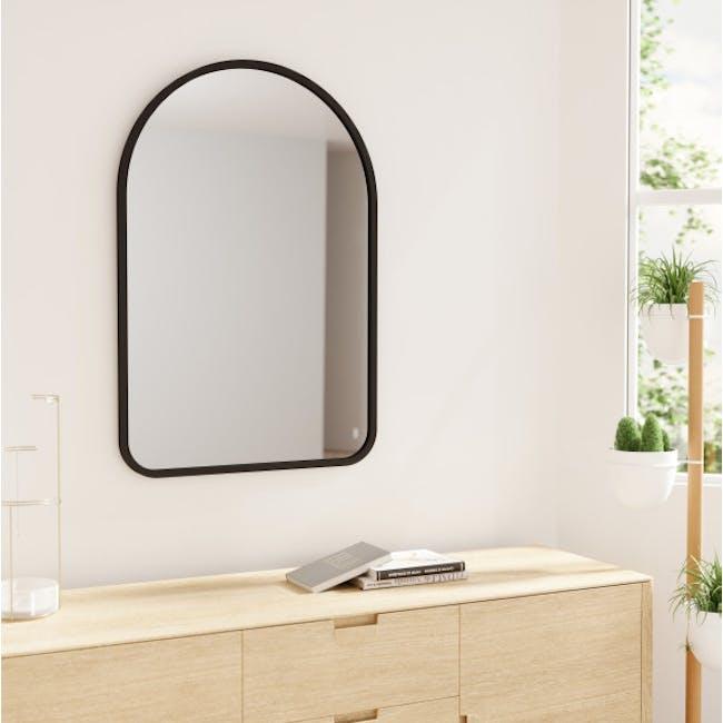 Hub Arched Wall Mirror 61 x 91 cm - Black - 2