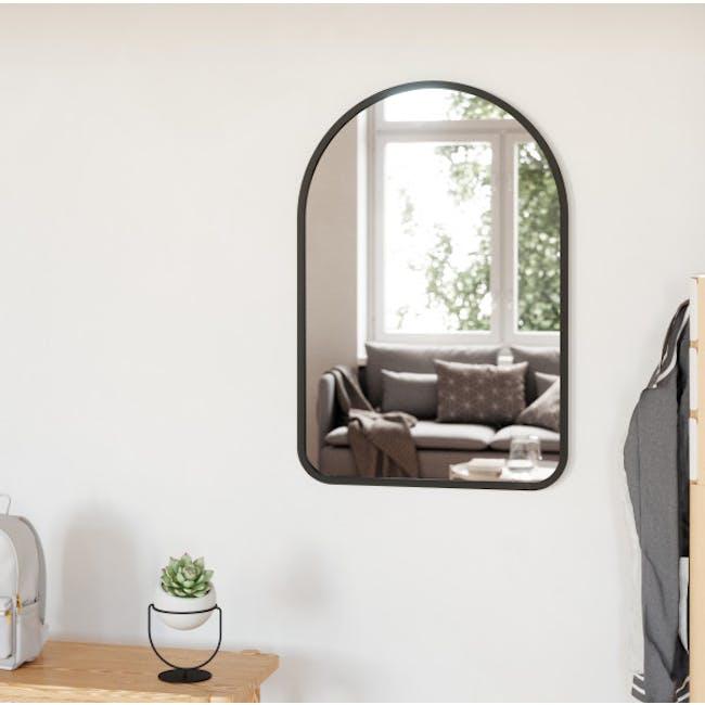 Hub Arched Wall Mirror 61 x 91 cm - Black - 1