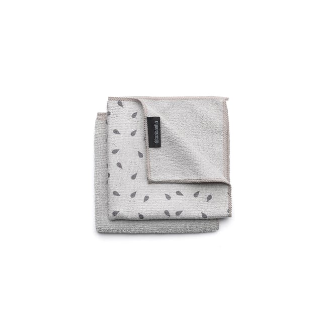 Microfibre Cleaning Cloths (Set of 2) - Light Grey - 0