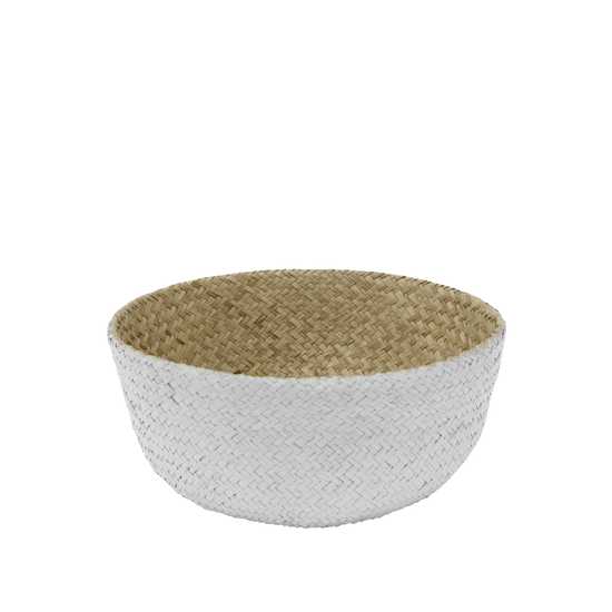 Stitches and Tweed - Grico Basket - White