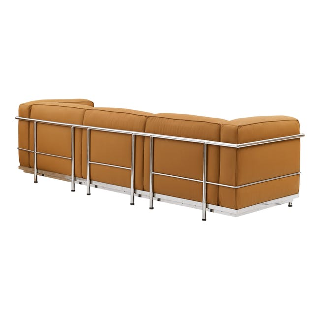 LC3 3 Seater Sofa Replica - Tan (Geuine Cowhide) - 3