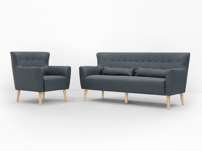 (As-is) Sofia 3 Seater Sofa - Carbon - 2 - Image 2