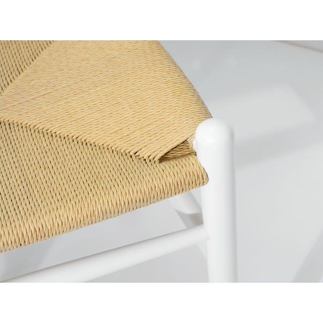 Wishbone Chair Replica - White, Natural Cord - 2