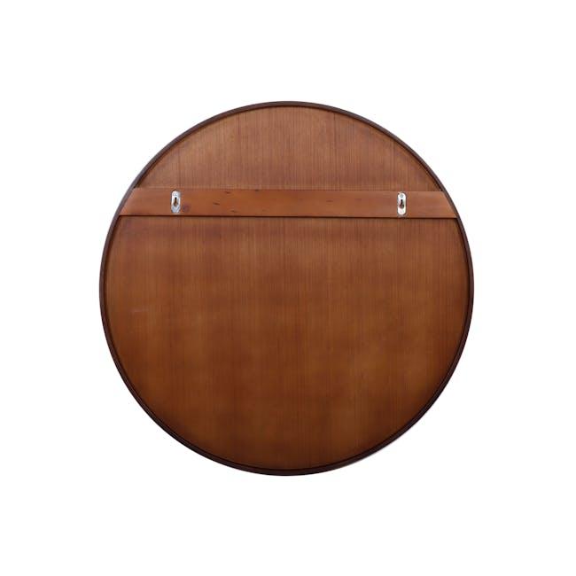 Hana Round Mirror 70 cm - Walnut - 2