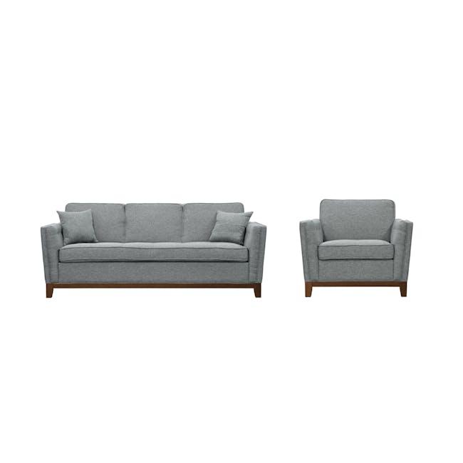 Byron 3 Seater Sofa with Byron Armchair - Siberian Grey - 0