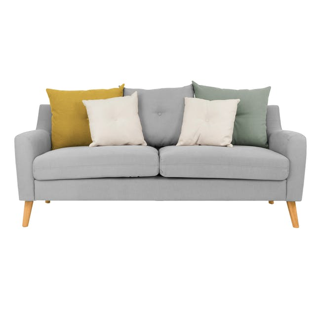 Evan 3 Seater Sofa with Evan Armchair - Slate - 1