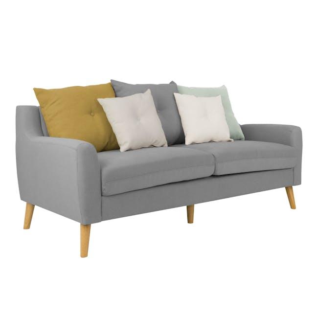 Evan 3 Seater Sofa with Evan Armchair - Slate - 2