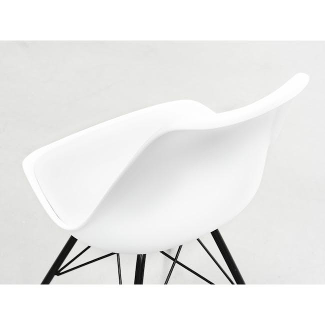 Axel Chair - Black, White - 6