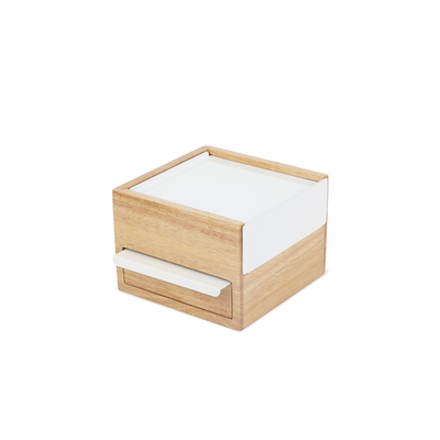 Mini Stowit Storage Box - White, Natural - Image 1
