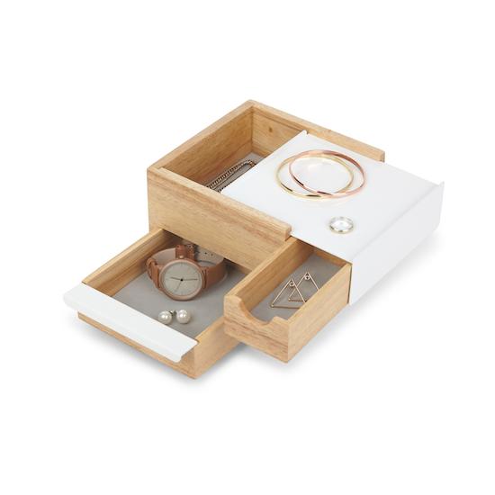 Umbra - Mini Stowit Storage Box - White, Natural