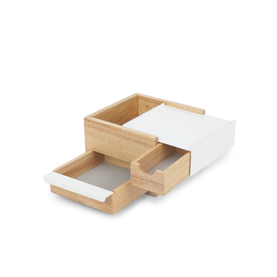 Mini Stowit Storage Box - White, Natural - Image 2
