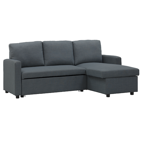 Sofa Beds - MLM - Mia L-Shaped Sofa Bed with Storage - Granite