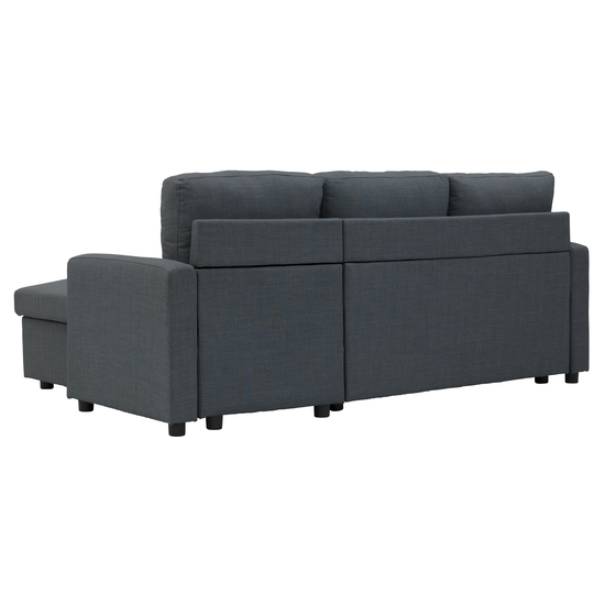 Mia L Shape Sofa Bed With Storage Granite Apartment Sofas By