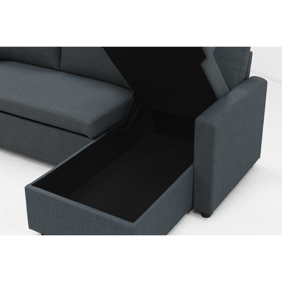 As Is Mia L Shape Sofa Bed With Storage Granite 2