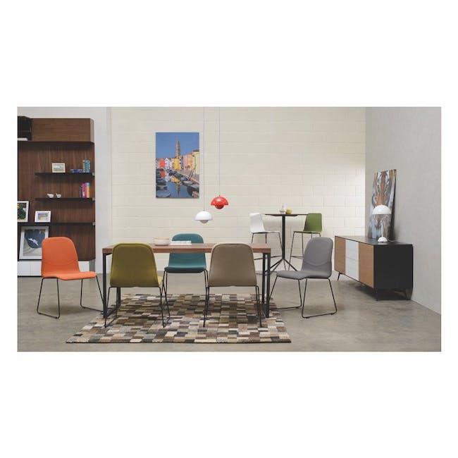 Ava Dining Chair - Matt Black, Tangerine - 10