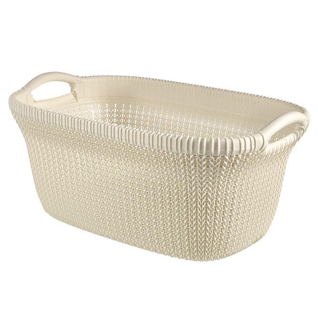 Knit Laundry Basket 40L - Oasis White - 0