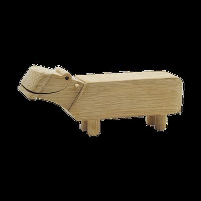 Samson the Hippo - Oak Wood Sculpture - Image 2