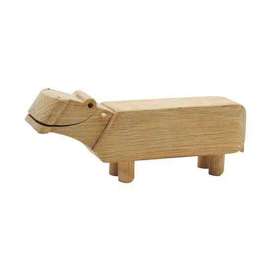 Helga - Samson the Hippo - Oak Wood Sculpture