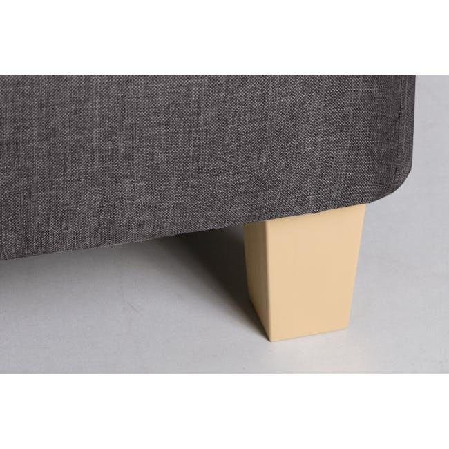 ESSENTIALS Single Divan Bed - Smoke (Fabric) - 6