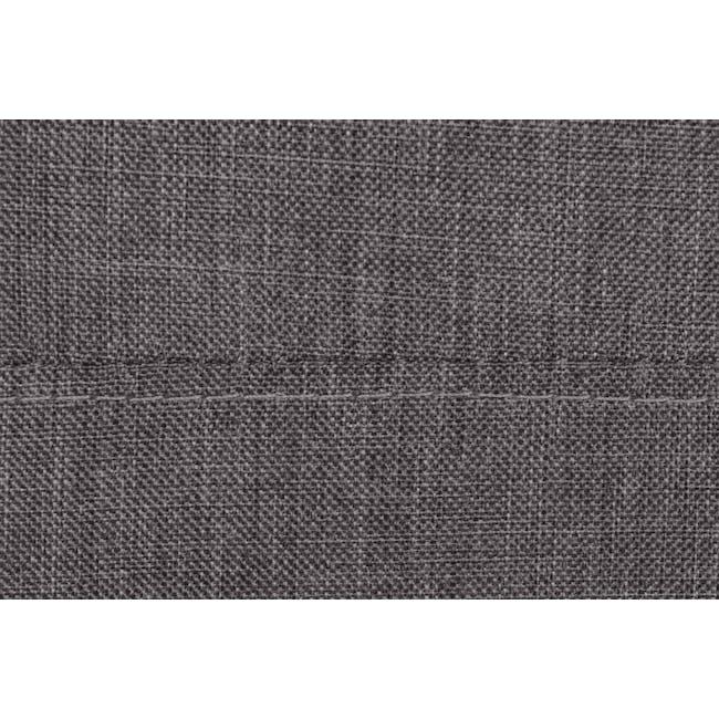 ESSENTIALS Single Divan Bed - Smoke (Fabric) - 7