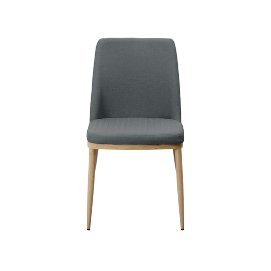 Glass and Metal - Kate Dining Chair - Oak, River Grey