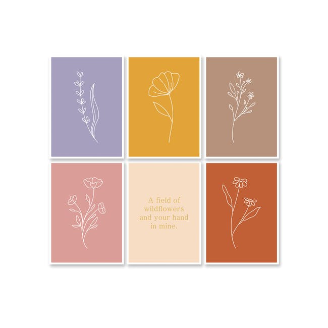 Borderless Positive Art Print on Paper (2 Sizes) - Wildflowers - 2