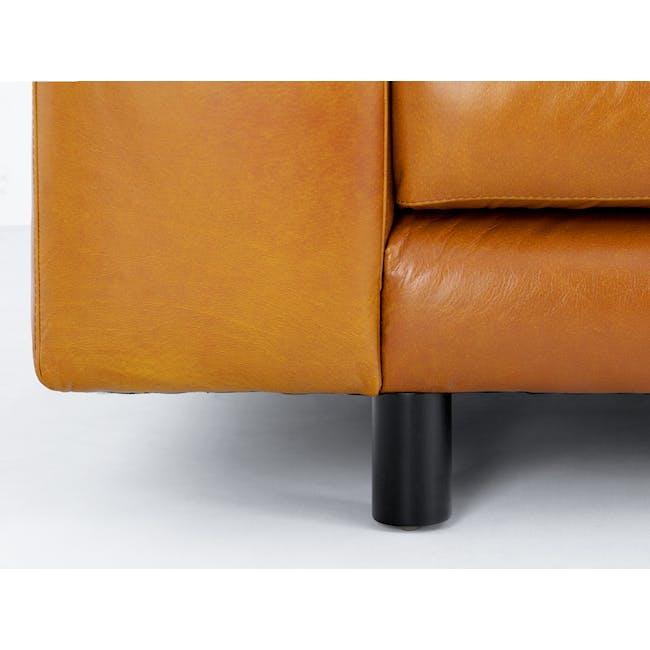 Wyatt L-Shaped Sofa - Butterscotch (Premium Waxed Leather) - 2