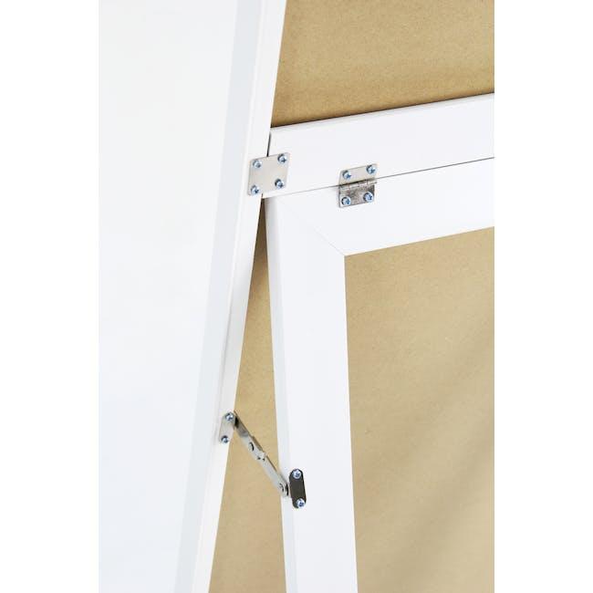 Zoey Standing Mirror 30 x 150 cm - White - 7