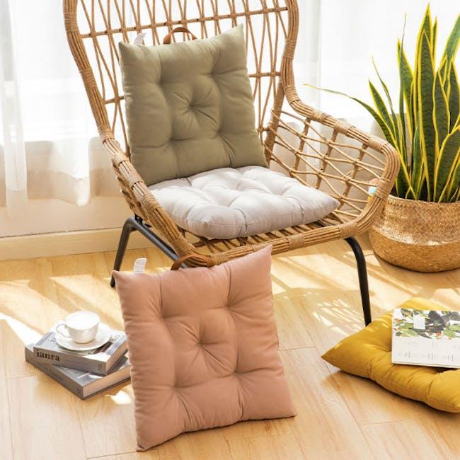 Esme Floor Seat Cushion 40cm - Grey - 3
