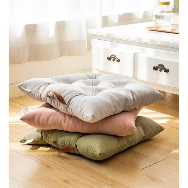 Esme Floor Seat Cushion 40cm - Grey - 1