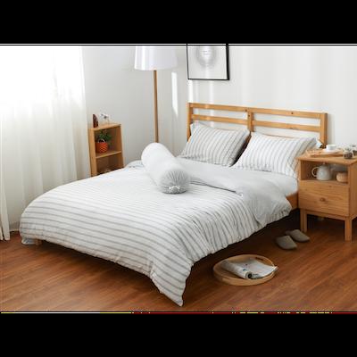 (Queen) Cotton Pure 6-pc Bedding Set - Menatee Grey - Image 1